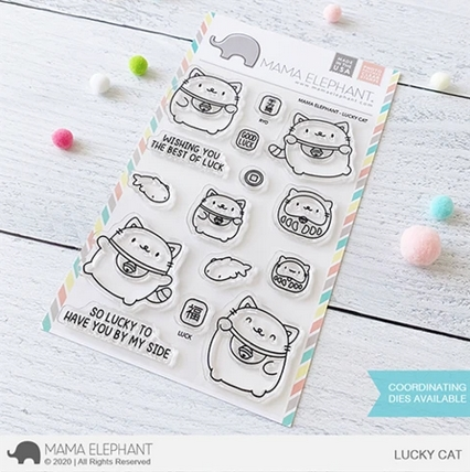 Mama Elephant Clear Stamps LUCKY CAT  zoom image