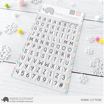 Mama Elephant Clear Stamps KISSIE LETTERS