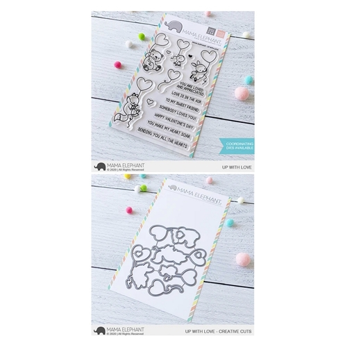 Mama Elephant Clear Stamp and Die MEPT876 Up With Love SET Preview Image