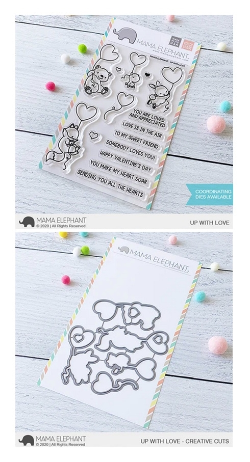 Mama Elephant Clear Stamp and Die MEPT876 Up With Love SET zoom image