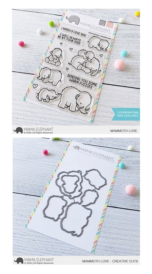 Mama Elephant Clear Stamp and Die MEPT872 MAMMOTH LOVE SET zoom image