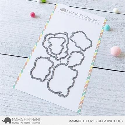 Mama Elephant MAMMOTH LOVE Creative Cuts Steel Dies Preview Image