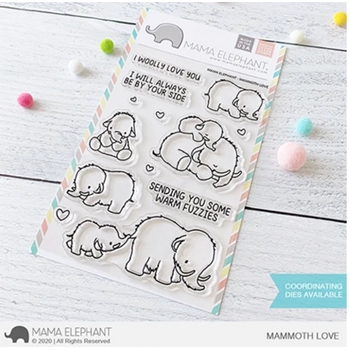 Mama Elephant Clear Stamps MAMMOTH LOVE