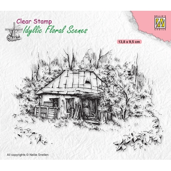 Nellie's Choice OLD COTTAGE Clear Stamp ifs027*