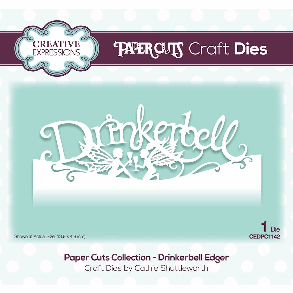 Creative Expressions DRINKERBELL EDGER Paper Cuts Collection Die cedpc1142 zoom image