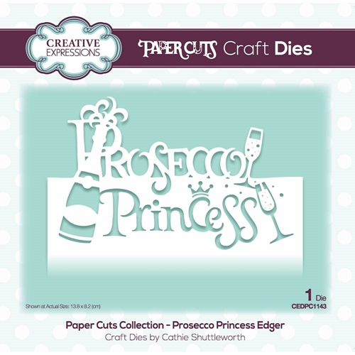 Creative Expressions PROSECCO PRINCESS EDGER Paper Cuts Collection Die cedpc1143 Preview Image