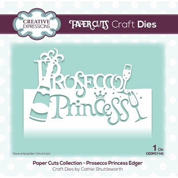 Creative Expressions PROSECCO PRINCESS EDGER Paper Cuts Collection Die cedpc1143
