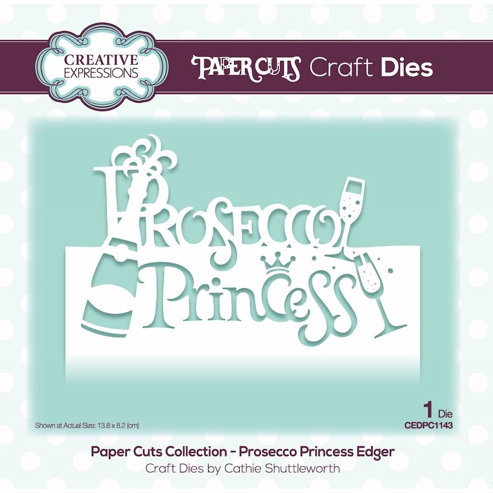 Creative Expressions PROSECCO PRINCESS EDGER Paper Cuts Collection Die cedpc1143 zoom image
