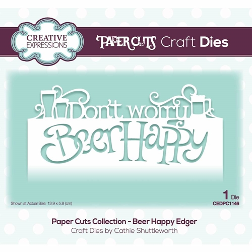 Creative Expressions BEER HAPPY EDGER Paper Cuts Collection Die cedpc1146 Preview Image
