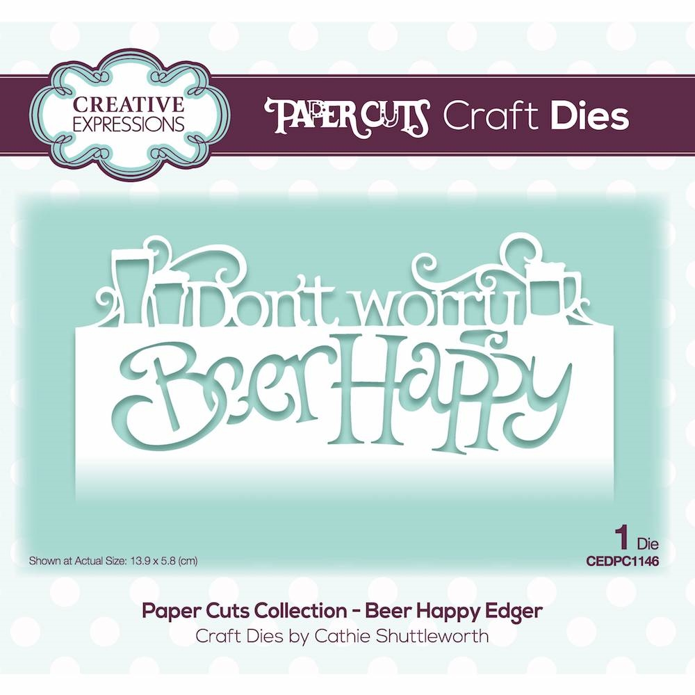 Creative Expressions BEER HAPPY EDGER Paper Cuts Collection Die cedpc1146 zoom image