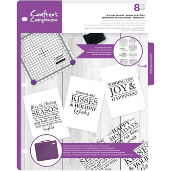 Crafter's Companion HOLIDAY SEASON Clear Stamp cccastholi