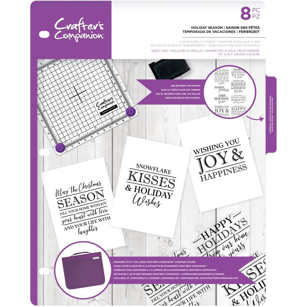 Crafter's Companion HOLIDAY SEASON Clear Stamp cccastholi* zoom image