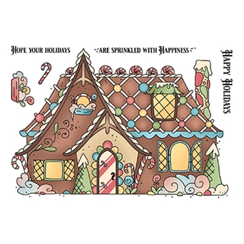 LDRS Creative GINGERBREAD HOUSE Clear Stamps 3276