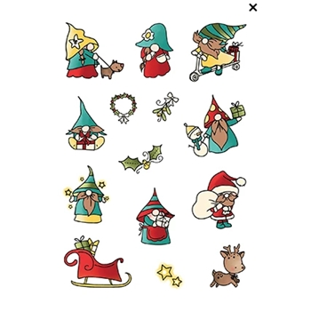 LDRS Creative HOLIDAY GNOMES Clear Stamps PD224