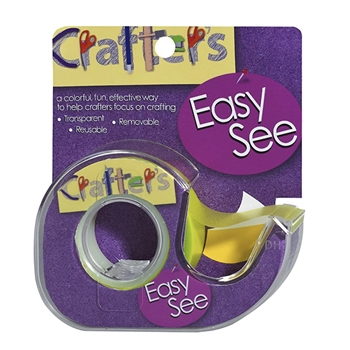 Crafter's Essentials YELLOW Easy See Removable Art Tape 33975