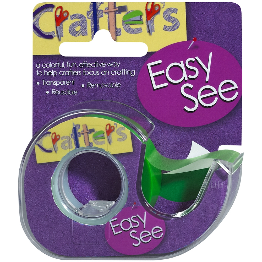Crafter's Essentials GREEN Easy See Removable Art Tape 33976 zoom image