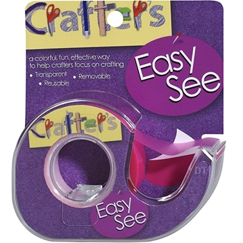 Crafter's Essentials PINK Easy See Removable Art Tape 33978