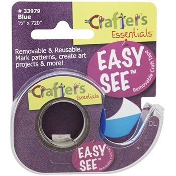 Crafter's Essentials BLUE Easy See Removable Art Tape 33979