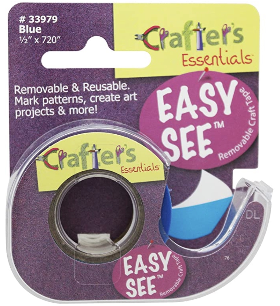 Crafter's Essentials BLUE Easy See Removable Art Tape 33979 zoom image