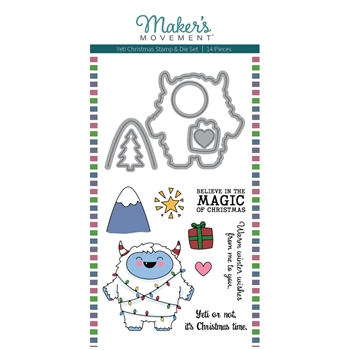 Maker's Movement YETI CHRISTMAS Stamp And Die Set msd228