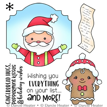 Darcie's SANTA'S LIST Clear Stamp Set pol479