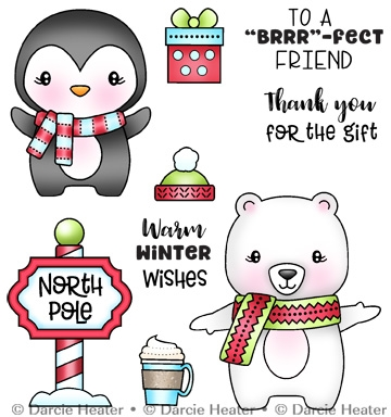 Darcie's NORTH POLE PALS Clear Stamp Set pol480 Preview Image