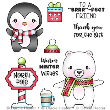 Darcie's NORTH POLE PALS Clear Stamp Set pol480