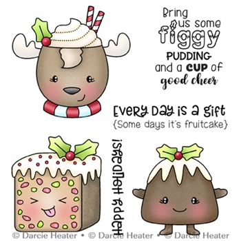 Darcie's FIGGY PUDDING Clear Stamp Set pol481
