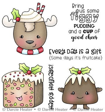 Darcie's FIGGY PUDDING Clear Stamp Set pol481 zoom image
