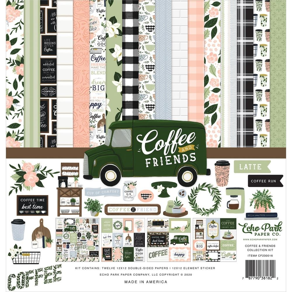 Echo Park COFFEE AND FRIENDS 12 x 12 Collection Kit cf230016 zoom image