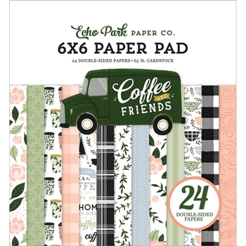 Echo Park COFFEE AND FRIENDS 6 x 6 Paper Pad cf230023