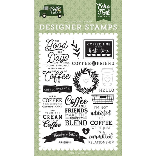 Echo Park COFFEE ADDICTS Clear Stamps cf230040 Preview Image