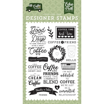 Echo Park COFFEE ADDICTS Clear Stamps cf230040