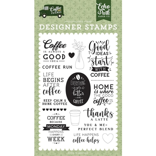 Echo Park COFFEE RUN Clear Stamps cf230041 Preview Image