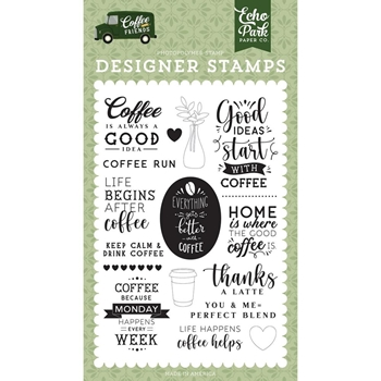 Echo Park COFFEE RUN Clear Stamps cf230041