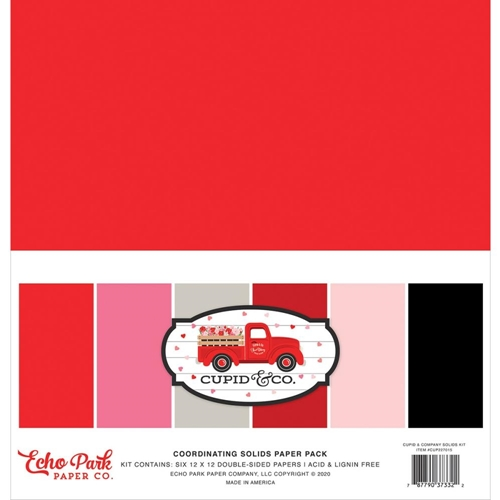 Echo Park CUPID AND CO 12 x 12 Solids Paper Pack cup227015 Preview Image