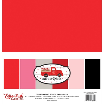 Echo Park CUPID AND CO 12 x 12 Solids Paper Pack cup227015
