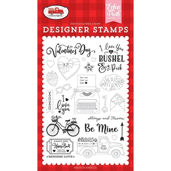 Echo Park BE MINE Clear Stamps cup227040
