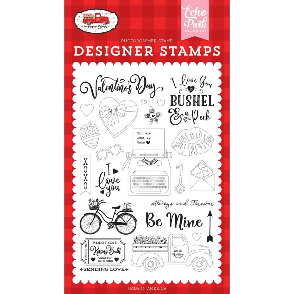 Echo Park BE MINE Clear Stamps cup227040 zoom image