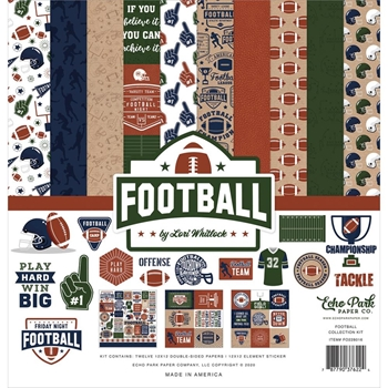 Echo Park FOOTBALL 12 x 12 Collection Kit fo228016