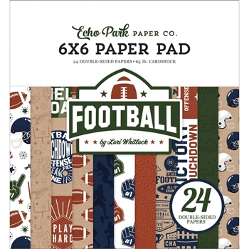 Echo Park FOOTBALL 6 x 6 Paper Pad fo228023