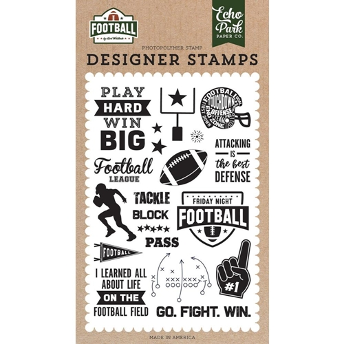 Echo Park TACKLE Clear Stamps fo228040 Preview Image