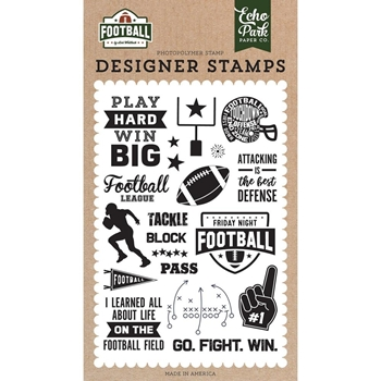 Echo Park TACKLE Clear Stamps fo228040