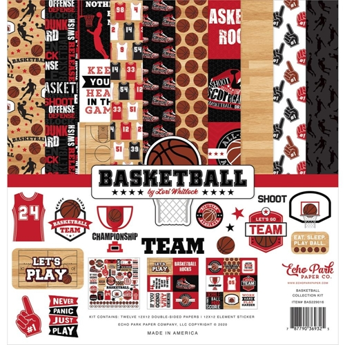 Echo Park BASKETBALL 12 x 12 Collection Kit bas229016 Preview Image