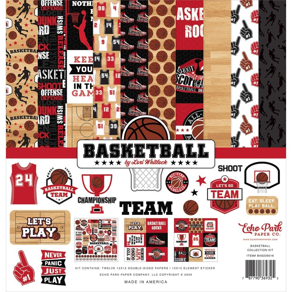 Echo Park BASKETBALL 12 x 12 Collection Kit bas229016 zoom image