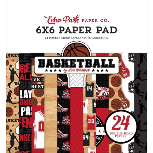 Echo Park BASKETBALL 6 x 6 Paper Pad bas229023 Preview Image