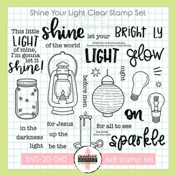 Sweet 'N Sassy SHINE YOUR LIGHT Clear Stamp Set sns20060