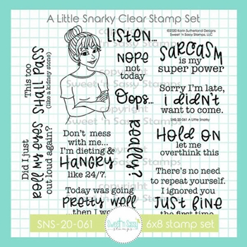 Sweet 'N Sassy A LITTLE SNARKY Clear Stamp Set sns20061