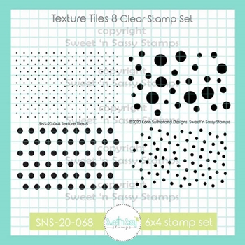 Sweet 'N Sassy TEXTURE TILES 8 Clear Stamp Set sns20068