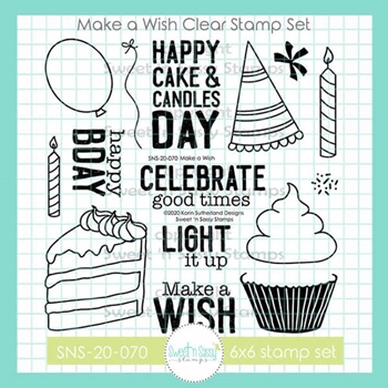 Sweet 'N Sassy MAKE A WISH Clear Stamp Set sns20070
